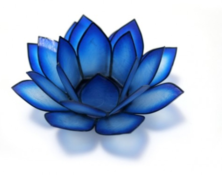 Chakra Lotus Candle Holder In Indigo Robyn Nola Gifts
