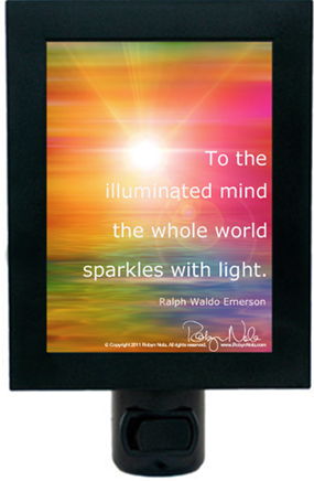 """Illuminated Mind"" Inspirational Quote Night Light"