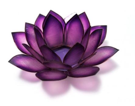 Purple Lotus Candle Holder