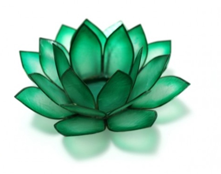 Chakra Lotus Candle Holder In Emerald Green Robyn Nola Gifts