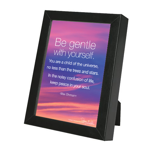 Be Gentle With Yourself Inspirational Quote Framed Print By Robyn