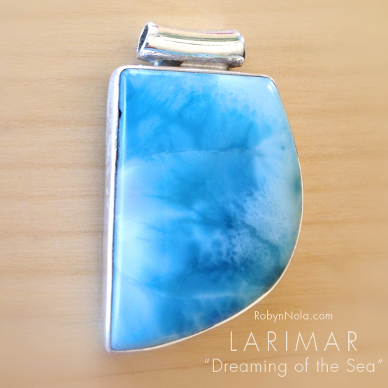 Beautiful blue larimar sterling silver pendant dreaming of the sea beautiful blue larimar sterling silver pendant aloadofball Gallery