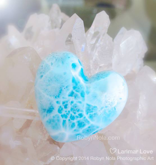 Larimar Heart by Robyn Nola