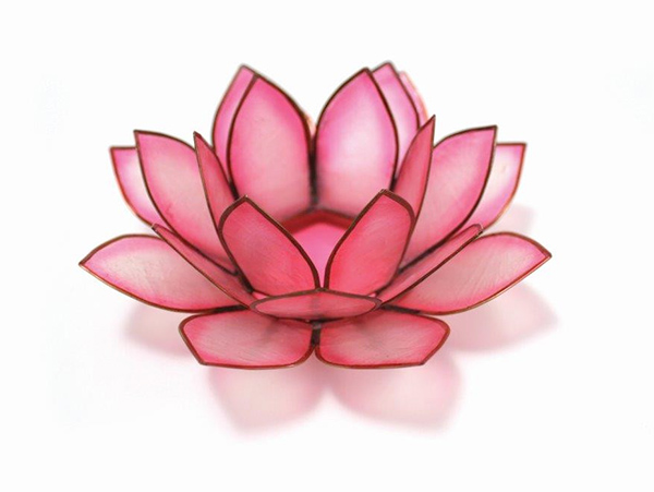 New Rose Quartz Pink Lotus Candle Holder Robyn Nola Gifts