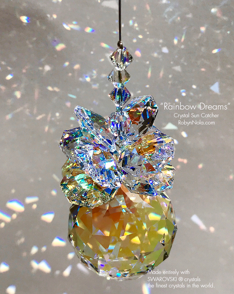 "top fashion search for official united kingdom New! ""Rainbow Dreams"" Swarovski Crystal Sun Catcher/ Crystal Rainbow Maker"