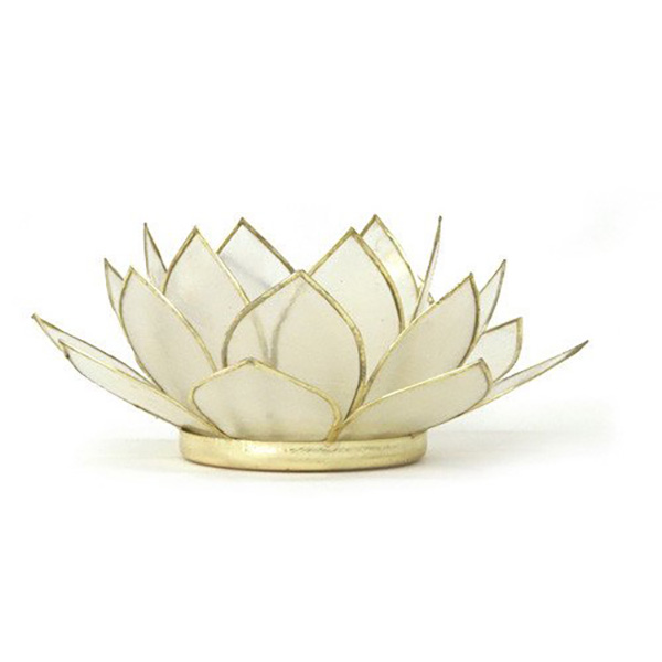 New peaceful pearl white lotus candle holder robyn nola gifts peaceful pearl white lotus candle holder mightylinksfo