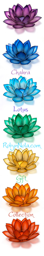 New! Mini Chakra Lotus Spiral Candle holder Stand with 3 Lotus candle holders