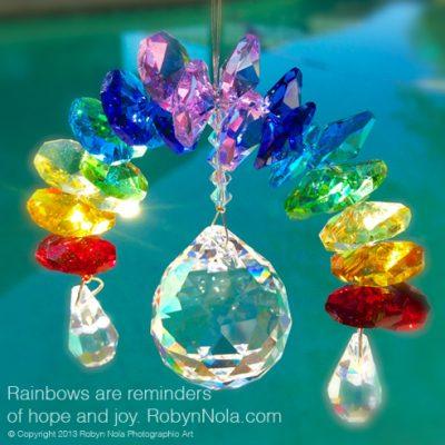 Crystal Rainbow Sun Catcher: Inspirational art for your window