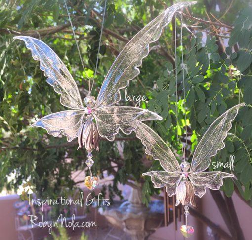 Large Swarovski Crystal Angel Fairy Sun Catcher